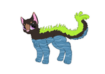 RARE water Coral Cat auction by Sarabikitty