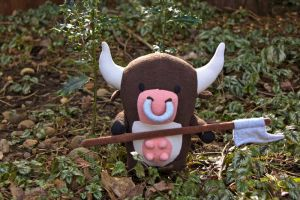 Diablo 2 Plushies - Cow from the Secret Cow Level by arixystix