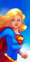 Supergirl Panel Art 2 by RichBernatovech