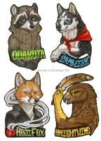 FC 2010 Bust Badges by Shadow-Wolf