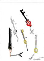 Thrones of the Four Pillars: Keyblade List 1 by Thaeonblade
