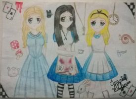 Alice 2010/Alice Madness returns 2011/Alice 1951 by IngridMilerio01