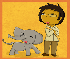 [APH AT] Thailand with an Elephant by poi-rozen