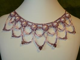 Pink Crystal Necklace by judysmith