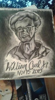 Commission: Memorial Portrait, William Curl Jr by alpharaye