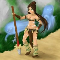 Nidalee Digi-art throwdown by Doujio