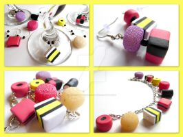 Liquorice Allsorts Charm Jewelry by right2bearcharms