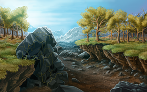 The Dried River Benst by WoodardIllustration
