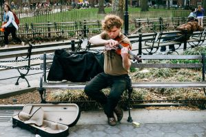 Street Violinist by BautistaNY