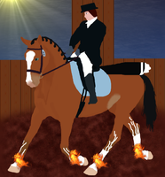 Minthral SC Dressage and Firesockstwine by Skypeoplephoenix732