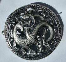 Brooch dark by Comacold-stock