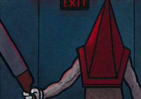 Pyramid Head - EXIT by Yamallow