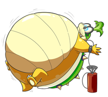 (Commission) Inflated Iggy Koopa by selphy6