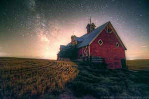 Eastern Oregon Barn and Milky Way 8-11-13 by adamsimsphotography