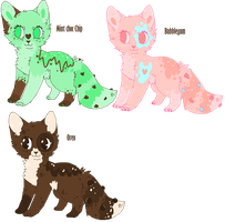 Candycat adoptables-sheet 2 by felicities