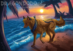 :CO: Pawprints in the sand by DragonDodo