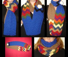 DW-inspired Infinity Scarf by Ginger-PolitiCat