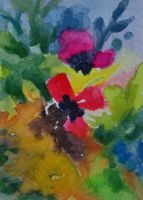 Abstract Floral by waughtercolors