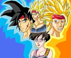 Bardock 3 levels color by JaworPL