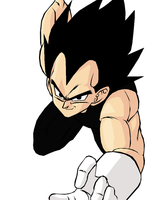 DBUC: Vegeta's Charge Colored by darkhawk5