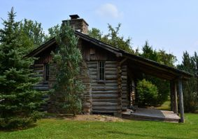 Durhamville Log Cabin by recycledrelatives