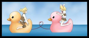 Rin and Len Kagamine - Ducks by LadyGalatee