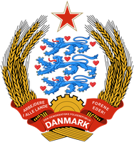 Coat of arms of communist Denmark by Regicollis