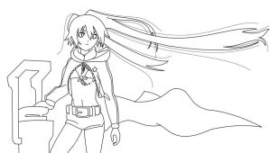 Black Rock Shooter LineART by Hyuuugo