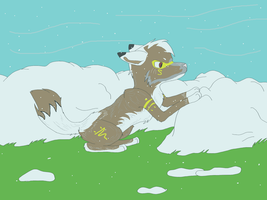 Clearing the Snow by GypsyCrest19