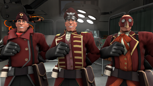 [SFM- TF2 skin] Medic burgundy red with hats by LurioAsplund