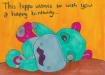 .:Gift:. Happy Birthday Hippo by smoochum302