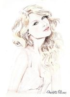 Taylor Swift Coloured Pencil Drawing by ArtbyCharlotte