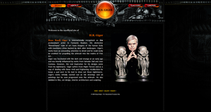 H.R. Giger Concept Website by akiwi