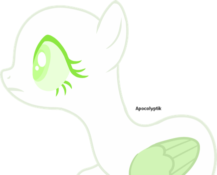 [1 Pony] she stares by ApocolyptikBases