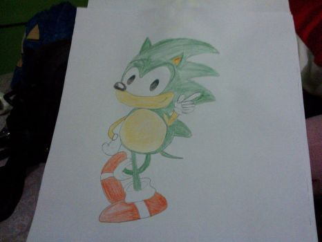 Green Sonic The Hedgehog by emasan606