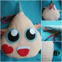 Cute Monster Decorative Pillow by TheChgz