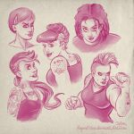 Rockabilly girls sketches by SuperEdco