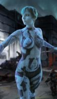 Halo: Cortana Bodypaint by Fillabula