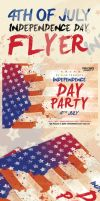 4th of July Independence Day Flyer by ShermanJackson