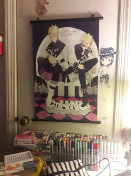 my DRAMAtical Murder Trip and Virus poster xD by FujoshiAriaArt
