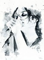 Brian Molko (Breathing in) by Cora-Tiana