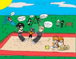 Bleach Kids Chibis by gamemaster8910