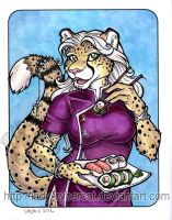 Sushi Cheetah 4 sale at Anthrocon by lady-cybercat