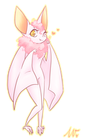 Pink Bat by wivimon