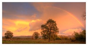 Sunset and a Rainbow by austinboothphoto