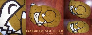 Sandshrew mini Pillow by Marki-san-Design