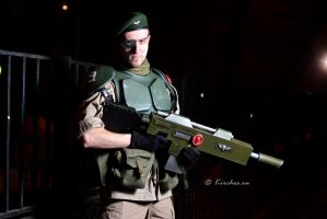 Cadian Imperial Guardsman cosplay by Wastort
