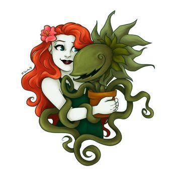 Pamela and her plant thing by msciuto