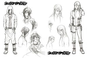 Surrender - Concept sketches by Lehanan