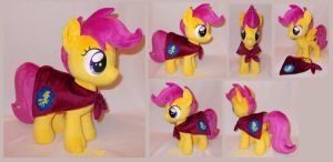 Scootaloo with CMC cape (commission) by MLPT-fan
